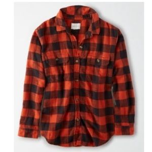 American Eagle plaid cabin button up flannel